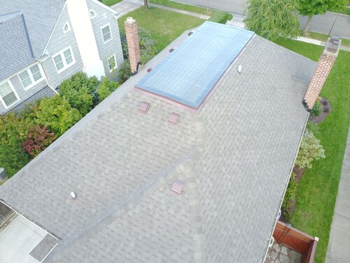Picture of a roof from above