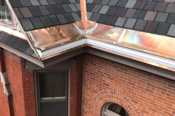 Copper Roof Trim