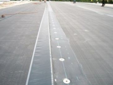Mechanically Fastened Roof Membrane