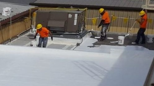 PVC Roofing Membrane Installation